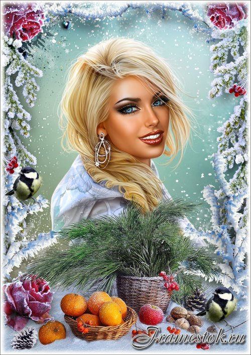 Рамка для фотошопа - Зимний натюрморт 3
