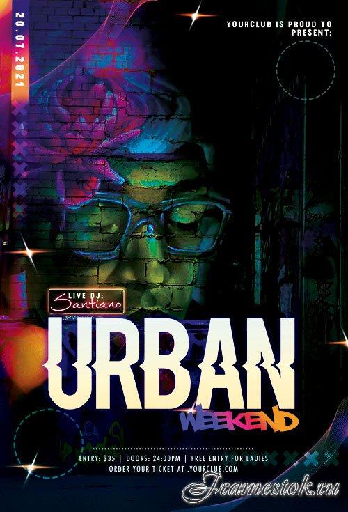Urban Weekend Flyer PSD Templates