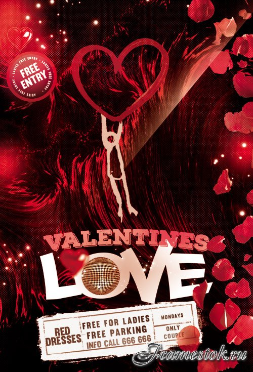 Lovely Night Flyer PSD TemplateS