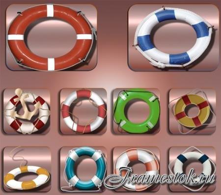 Png клипарты для фоторамки - Спасательные круги