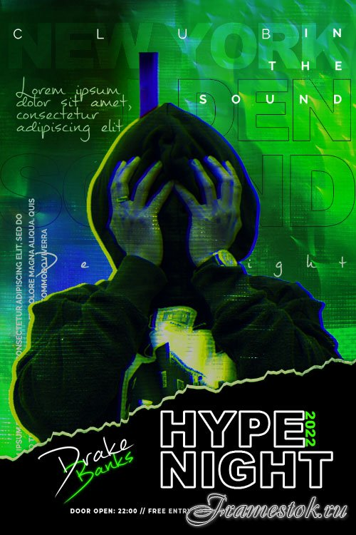 Hype Night Flyer PSD Template