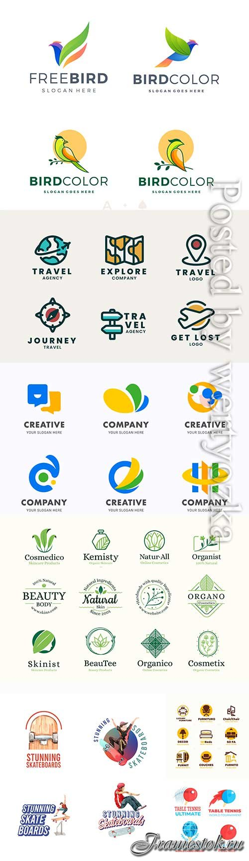 Logos and badges in vector