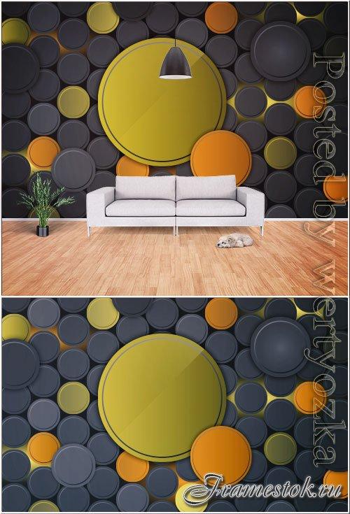 3d modern stylish stereo geometric tv background wall