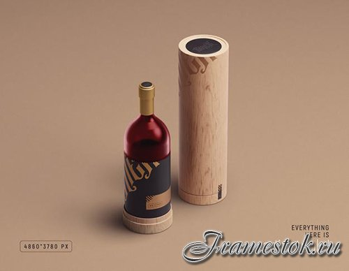 Wine packaging psd mockup by mithun mitra