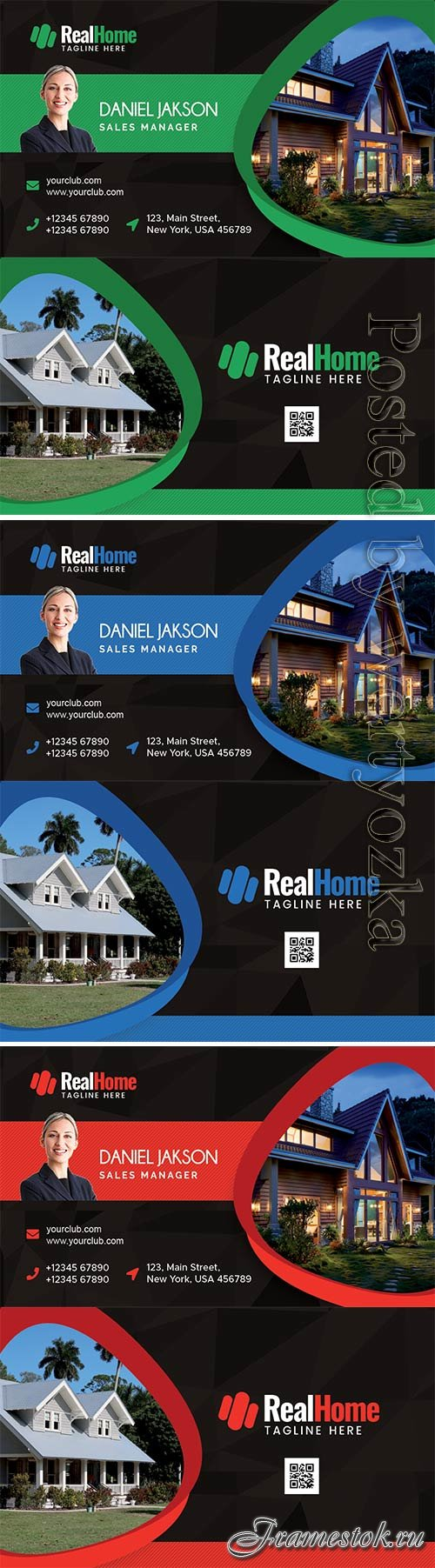 Real Estate Company Business Card PSD