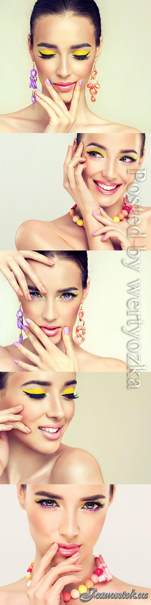 Stylish makeup for women stock photo