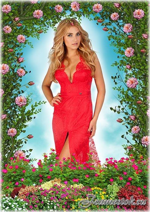 Цветочная рамка - Летний сад