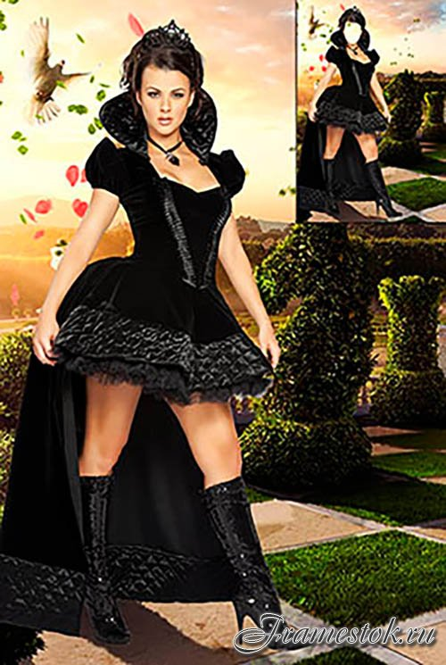 Шаблон для фотомонтажа — Шахматная королева