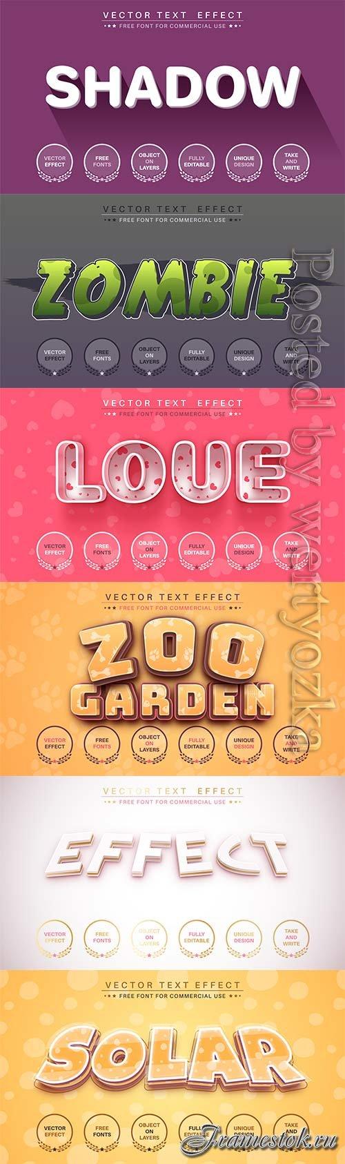 3d editable text style effect vector vol 756
