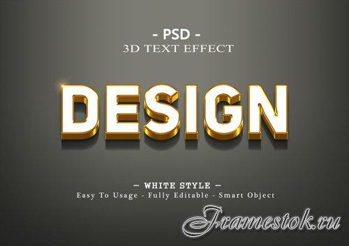 Design 3d text effect Premium Psd