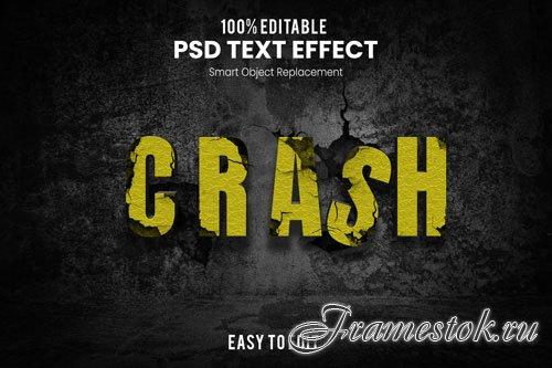 Crash text effect Premium Psd