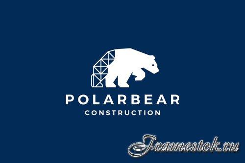Polar Bear Construction Logo