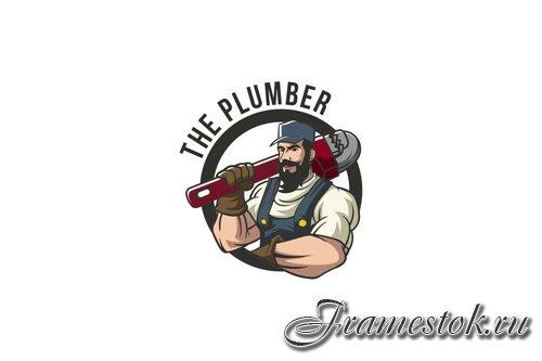 Plumber Mascot Logo Design