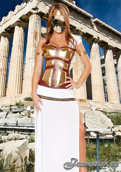 Шаблон для фотомонтажа - Греческая богиня