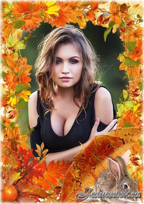 Рамка psd - Осенняя зарисовка